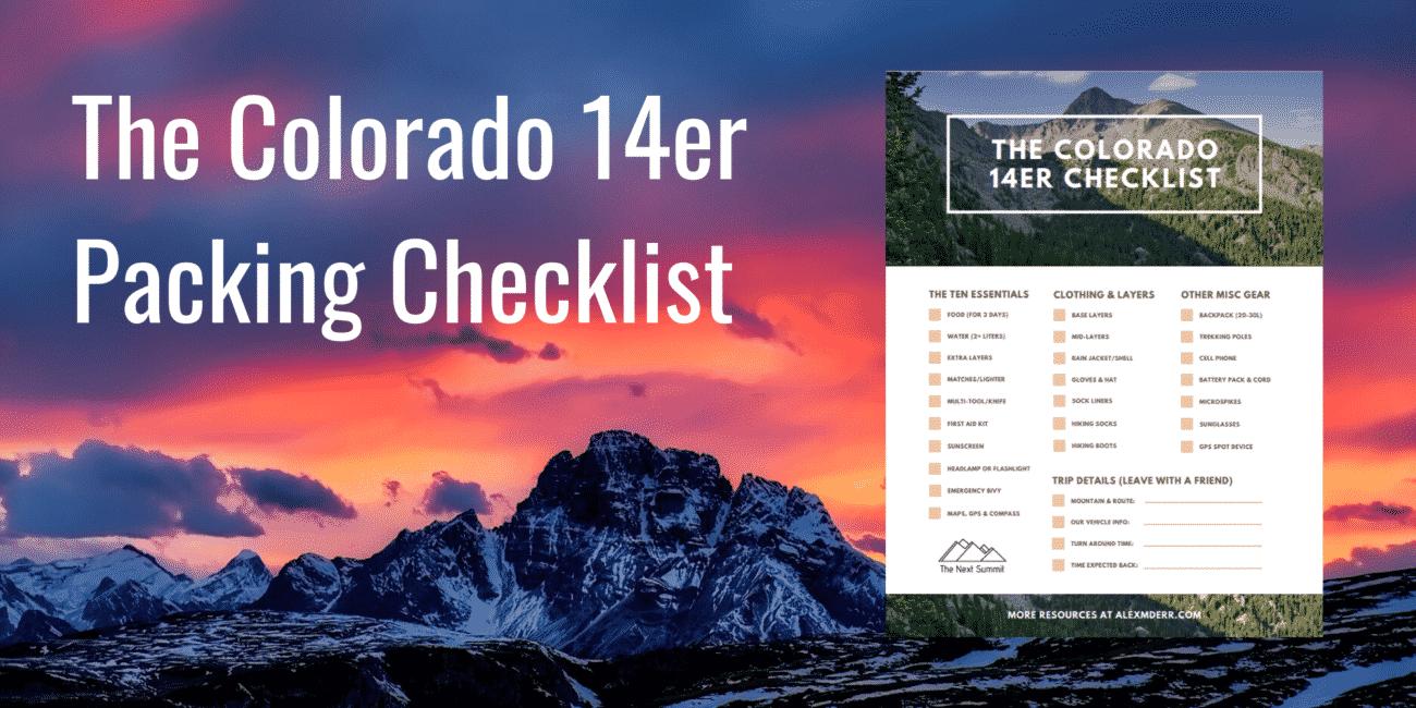 14er Packing Checklist