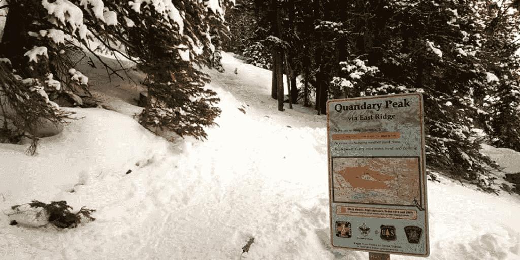 Climbing Quandary Peak in Winter