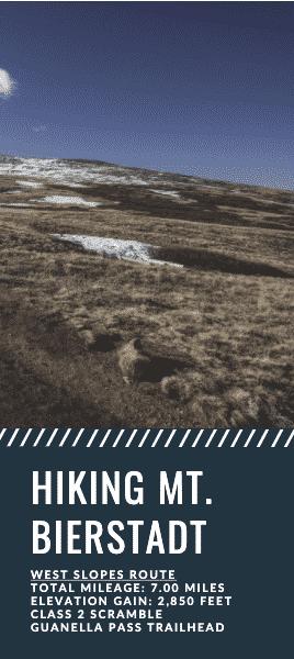Mt. Bierstadt Hiking Guide