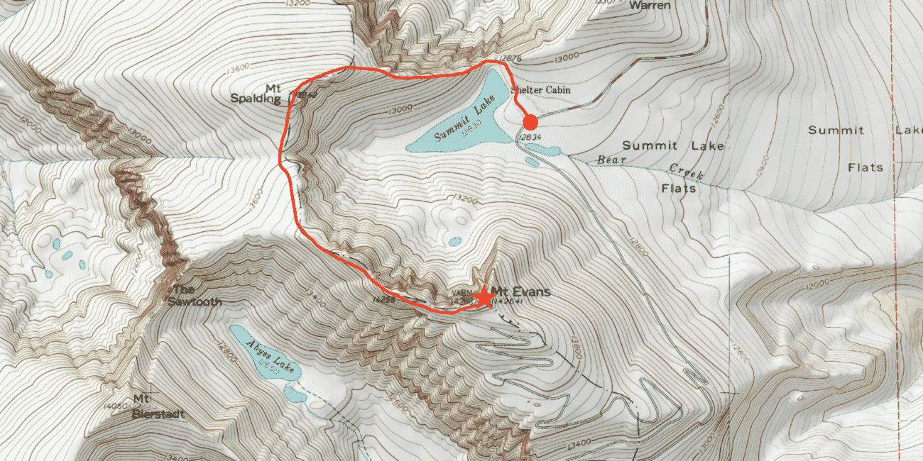 Mt Evans Standard Route Guide