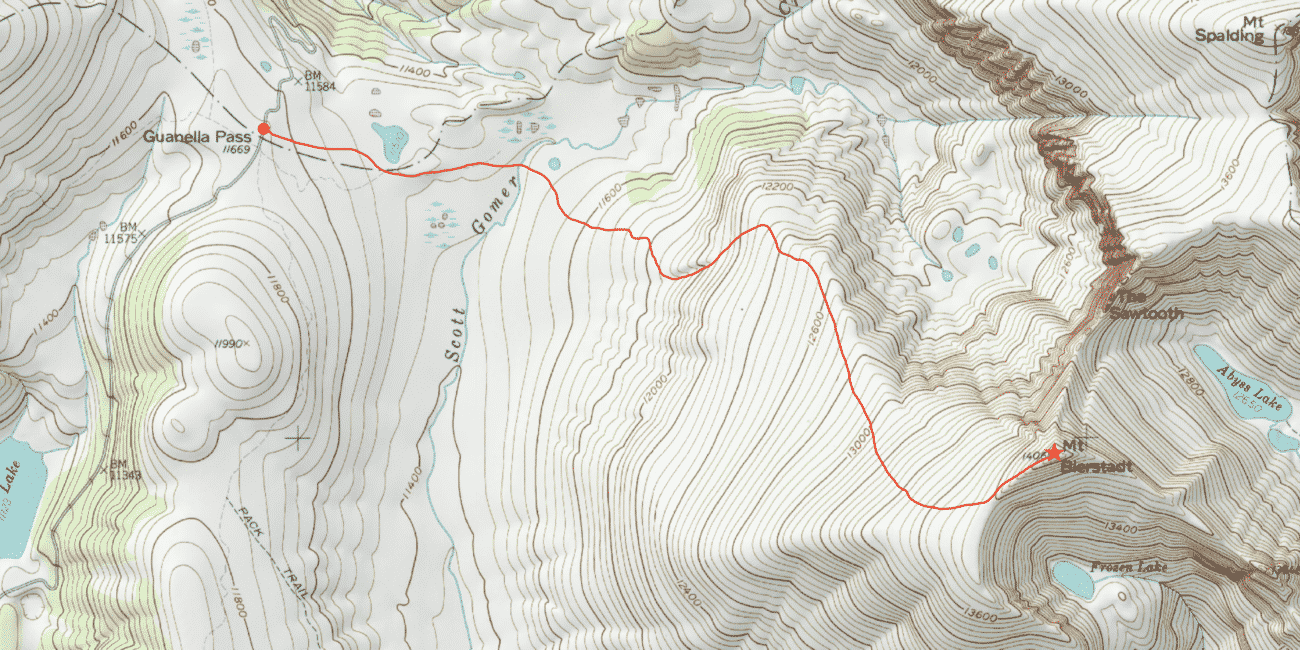 Mt Bierstadt Standard Route Guide