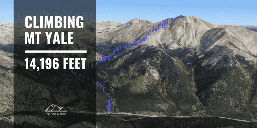 hiking Mount Yale