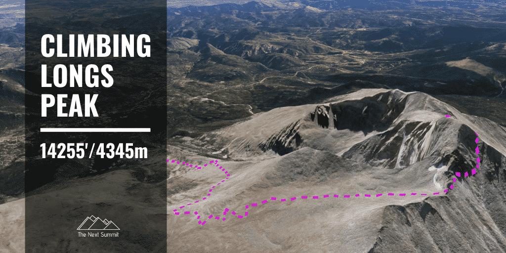 climbing Longs Peak