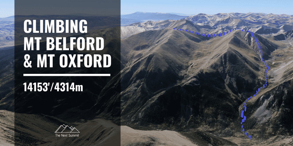 Mt Belford & Oxford Route Guide