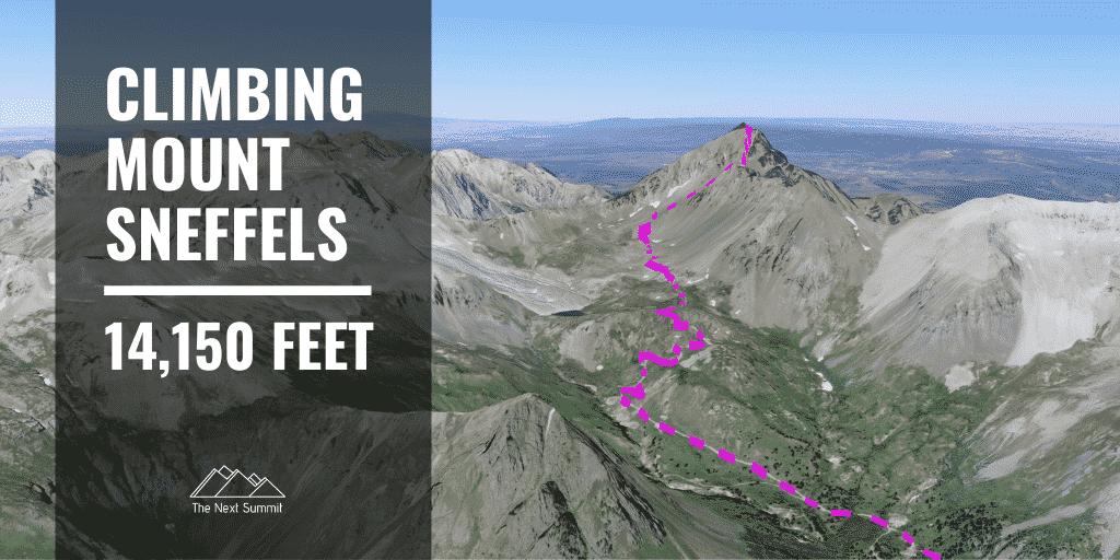 climbing Mount Sneffels
