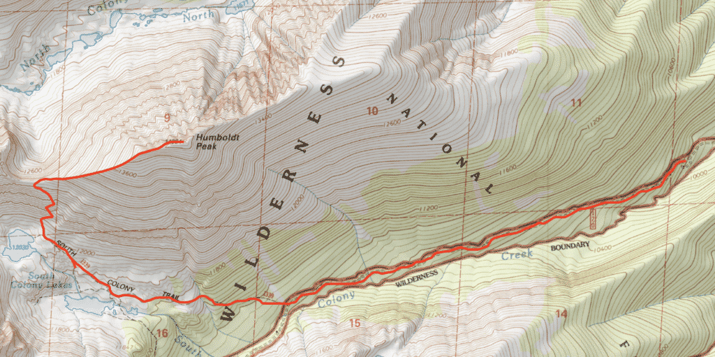 Humboldt Peak Route Guide