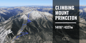 hiking Mount Princeton