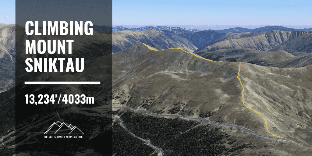Mt Sniktau Route Guide