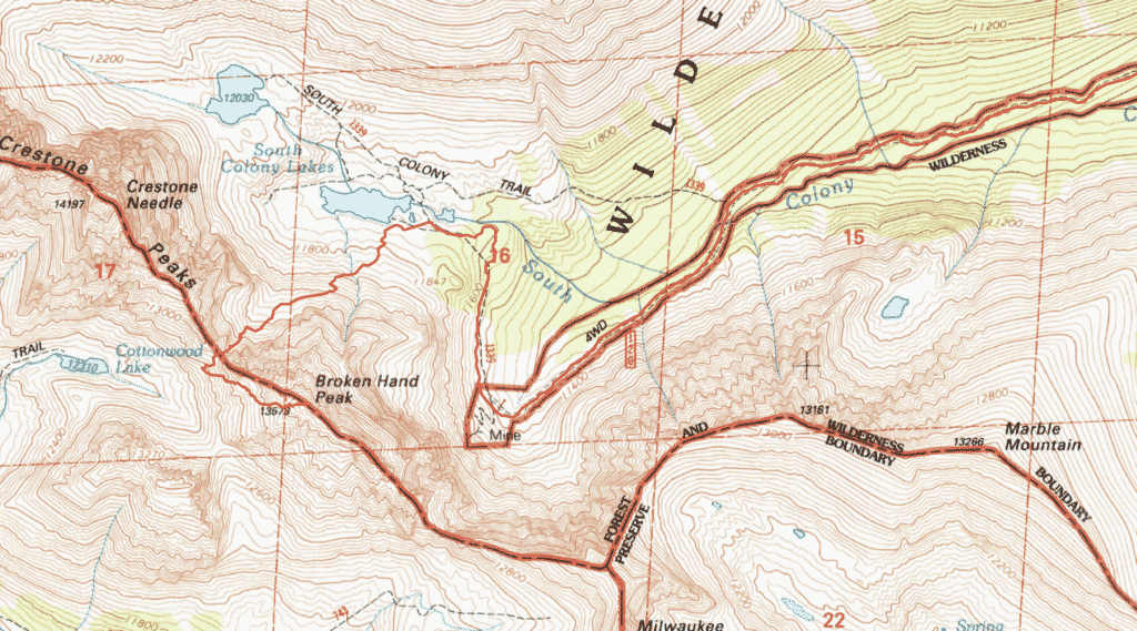 Broken Hand Peak Route Guide