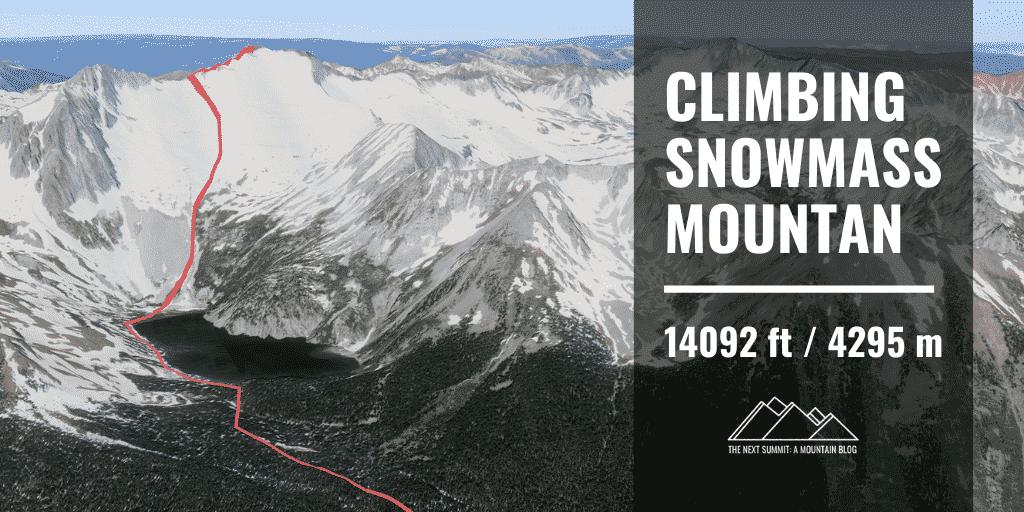 climbing snowmass mountain