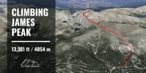 hiking James Peak