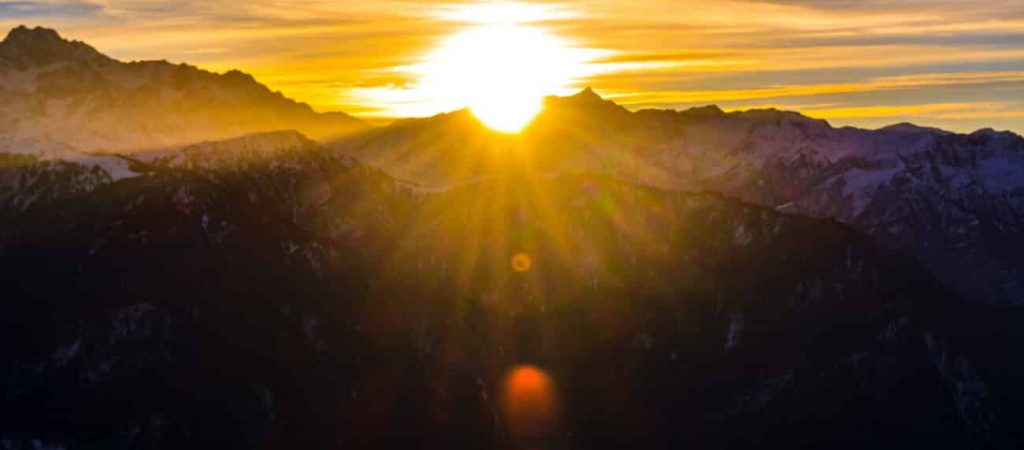 Canva - Silhouette of Mountains during Sunrise